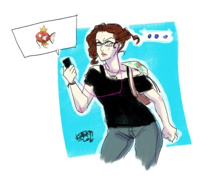 Me and Pokemon Go by DiesIrae91