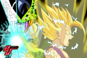 Gohan vs perfect Cell by a-vstudiofan