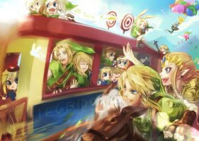 25 years Legend of Zelda by Miyukiko