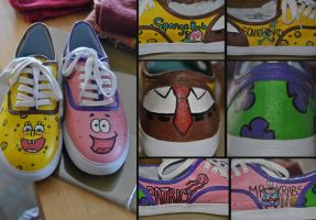Spongebob Shoes by aarontheawesome