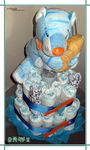 Hugo's Diaper Cake by Kirvaja