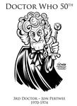 Doctor Who 3rd Doctor Jon Pertwee by SouthParkTaoist