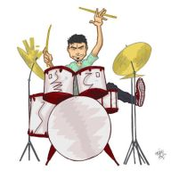 Tony the drummer by carlosgrittijr