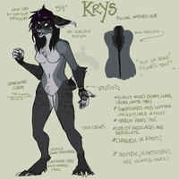 Krys Feline Anthro ref by ChocolateFishFins