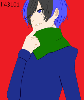 Kevin Looks Good in a Scarf by li43101