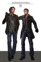 Dean and Sam from supernatural by ulrica29