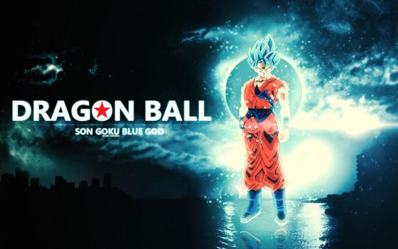 Dragon Ball Goku Super Saiyan God Blue Wallpaper B by isaldalvizar