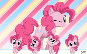 Pinkie Pie Wall Faces by mysticalpha