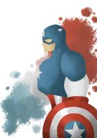 Captain America Splash by Kingeth
