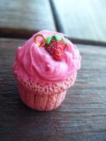 Strawberry Yum Cupcake by Cinnamonster