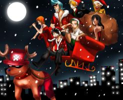 One piece - Merry xmas by WeirdAlchemist
