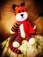Hobbes Stuffed Animal (Calvin and Hobbes) by lillybearbutt