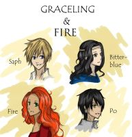 Graceling and Fire char. doodles c: by winter-monsoon