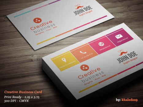 Creative Business Card by khaledzz9
