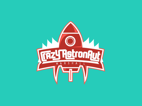 Crazy Astronaut Logo by Awery