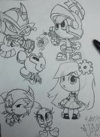 Toon/Anime Dump sketches 1 out of 6 by sonamyluv123