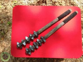LARP Spiked Maces by DragonSkinLarp