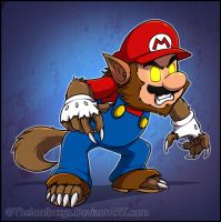 Were-Mario by RatchetMario