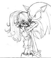 sonic and mina by jamce