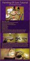 Painting Elf Ears Tutorial by vickybunnyangel