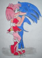 AT: SonAmy Kiss by ripjaws-girl21