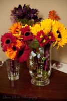 Gerbera Daisies in Vase by QueenSheba24