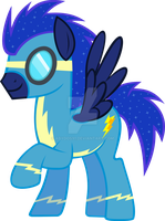 Night Thunder as a  Wonderbolt by abydos91