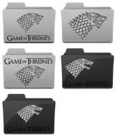 Game of Thrones Stark folder icons by M42NGC1976