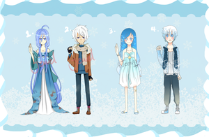 [CLOSED] Water and Ice Adopts [Points] by Jeera97
