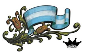 Bandera Argentina Filetiada by th3K1ng