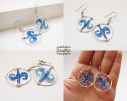 Blue Waves Earrings by Zsamo