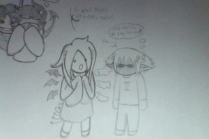 Chibi!Emotional!Ledgierl and Chibi!Sollux by Carbonated-Wrath