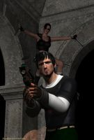 Lara Croft And Kurtis Trent by JMystique