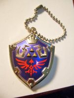 Link Hylian Shield Keychain  01 by StealthNinja5