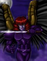Gabriolis the Dark Angel by Seraphim-ZeroX