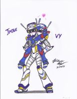 Robot Love Jaque and Vy by NeoLupeTrooper9893