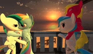 time at the sunset by MLMshironwindragon