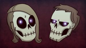 Another Indie Halloween Skulls by wibblethefish