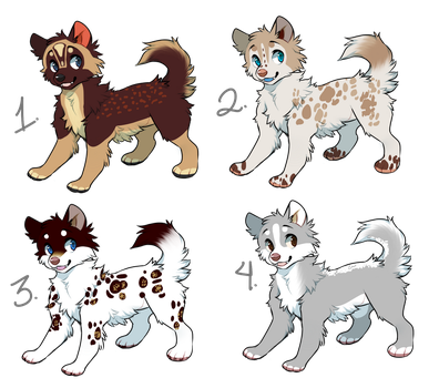 Natural Dog Adopts (OPEN) Prices reduced! by 18Gingasoldier