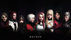 Wallpaper 4 - BEYOND THE STARS by LimonTea