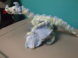 Crochet Dragon with Posable Wings 2 by ShadowOrder7