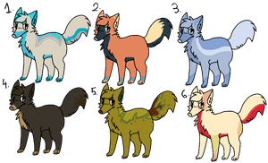 Cheap Dog Adopts! (3/6 left!) by Myth-Adopts