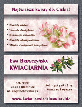 13-01-22 Business card florist by dwsel
