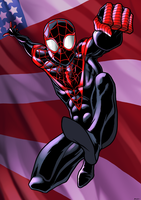 Ultimate Spidey by dwaynebiddixart