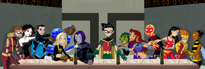 The Teen Titan's Last Supper by Glee-chan