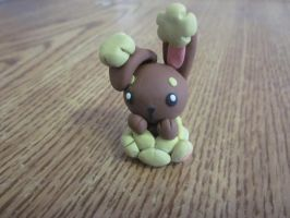 Pokemon Fan Art - Buneary Figurine by MintyKissesAndStuff