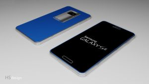 Samsung Galaxy S6 concept (Blue) by HS-design