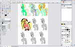 WIP, ship adopts for star ~ DiscordxLightning dust by Miss-Catstacks