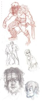 Hiccup doodles by BAM---BAM