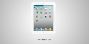 White iPad 2 Icon by TheWonderlands